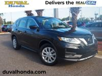 This 2018 Nissan Rogue S in Magnetic Black features:
