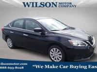 Super Black 2018 Nissan Sentra S FWD CVT with Xtronic