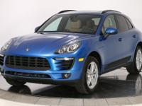 2018 Porsche Macan in Sapphire Blue Metallic over