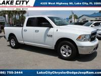 CARFAX One-Owner. Clean CARFAX. White 2018 Ram 1500 SLT
