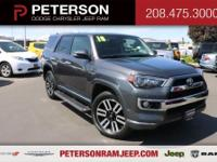 Our great looking 2018 Toyota 4Runner Limited 4WD