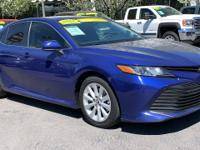 CARFAX One-Owner. Clean CARFAX. Blue 2018 Toyota Camry