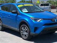 CARFAX One-Owner. Clean CARFAX. Blue 2018 Toyota RAV4