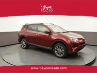 2018 Toyota RAV4 Limited; Ruby Red Pearl, Nutmeg