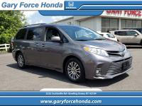CARFAX One-Owner. Clean CARFAX. Gray 2018 Toyota Sienna