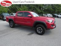 2018 Red Toyota Tacoma 6-Speed Automatic One Owner