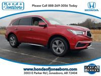 Clean CARFAX. Red 2019 CARFAX One-Owner. Acura MDX 3.5L