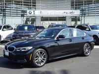Clean CARFAX. Jet Black 2019 BMW 3 Series 330i RWD