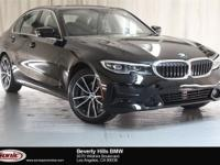 This 2019 BMW 330i has a Clean Carfax, Jet Black