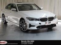 This 2019 BMW 330i has a Clean Carfax, Alpine white,