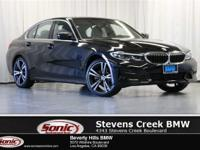This 2019 BMW 330i has a Clean Carfax, Black SensaTec