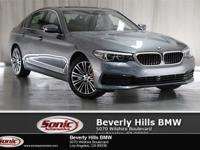 This 2019 BMW 530i has a Clean Carfax, Bluestone