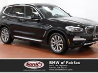 Boasts 29 Highway MPG and 22 City MPG! This BMW X3