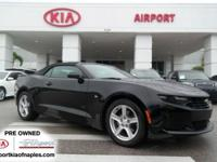 Clean CARFAX 1 OWNER!!! Black 2019 Chevrolet Camaro 1LT