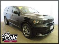 Black Clearcoat 2019 Dodge Durango R/T AWD 8-Speed