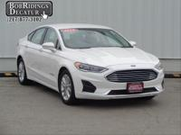 2019 Ford Fusion Hybrid SEL White Platinum Metallic