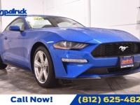 Blue 2019 Ford Mustang EcoBoost RWD 10-Speed Automatic