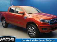 2019 Ford Ranger Lariat, 4D Crew Cab, 4WD... Hot Pepper
