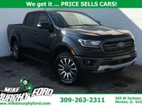 2019 Ford Shadow Black Ranger Lariat 4WD 10-Speed