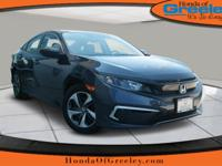 Scores 38 Highway MPG and 30 City MPG! This Honda Civic