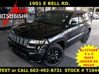 AWESOME BLACK on BLACK ** GRAND CHEROKEE ** ALTITUDE **