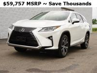 Virtually new vehicle!Ultra White 2019 Lexus RX 350L