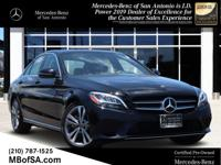 Certified. Black 2019 Mercedes-Benz C-Class C 300 RWD