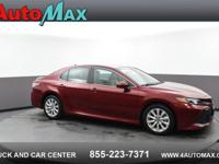 Red 2019 Toyota Camry LE FWD 8-Speed Automatic 2.5L I4