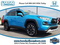 CARFAX One-Owner. Clean CARFAX. Blue 2019 Toyota RAV4