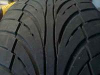 This is a used set of 205 50 R16 tires that have good