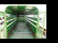 Used 24ft Gooseneck Horse/Cattle Trailer. Green,