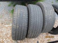 set of 4 275/60R20 Goodyear wrangler two about half and