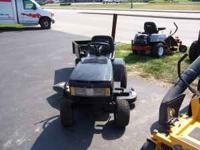 We have a Yardman riding mower with tow cart. It is in