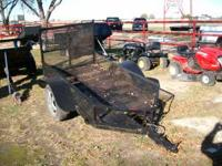 Used 4x6 Motorcycle Trailer W/Ramp Gate, Black, all