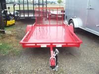 "USED 5X10 Finish Line Golf Cart Trailer. 10"" Tires with"