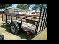 Used 5X12 Single Axle Trailer w/Ramp Gate - 2ft cage