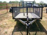 Used 5X12 Single Axle Trailer w/Ramp Gate -2ft cage