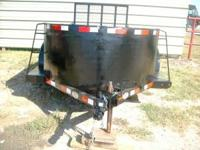 Used 6x10 Tandem Axle Trailer. Black, 3ft all steel