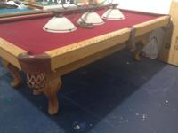 8' GoldenWest Billiard Table Solid Wood Circular