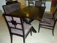 Used American Signature Furniture 6 Piece Dining Set
