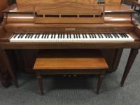This piano possesses a bright and cheery sound, this