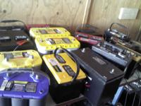 We carry reconditioned and new batteries for most make