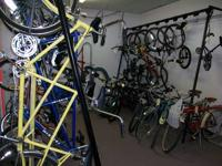 We are rupturing at the seams with used bikes now, as