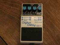 The BOSS DD-7 Digital Delay is a guitar effects pedal