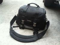 used canon camera storage bag. please contact Allen @