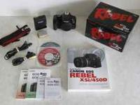 I am selling a used Canon Rebel xsi 450D camera body.