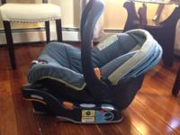 This is a used car seat but it is in good condition.