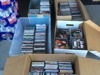 Great deal of 760 used CD'S. All in cases with coats.