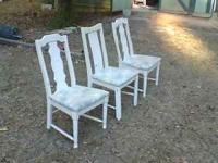 used nice 3 chair$. 5 a chair. 15 for all dave....