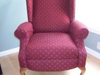 This Lane wing chair recliner was made in the USA,